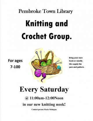 Knit and Crochet group.