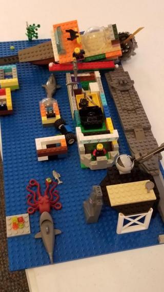 Assembled legos